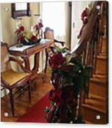 Christmas Rose And Stairs  Acrylic Print