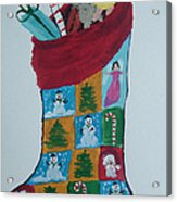 Christmas Sock Acrylic Print