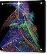 Christmas Tree 49b Star Acrylic Print