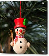 Christmas Tree Decoration Acrylic Print