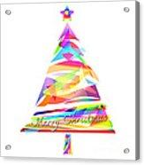 Christmas Tree Design Acrylic Print