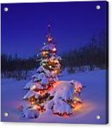 Christmas Tree Glowing Acrylic Print