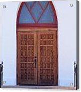 Christ's Red Door Acrylic Print