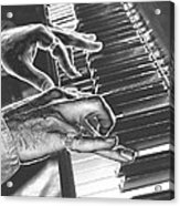 Chrome Piano Man Acrylic Print