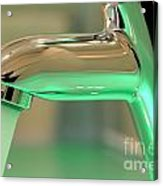 Chrome Sink Tap With Running Water Acrylic Print