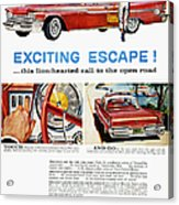 Chrysler Ad, 1959 Acrylic Print