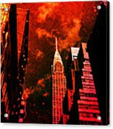 Chrysler Building - New York City Surreal Acrylic Print