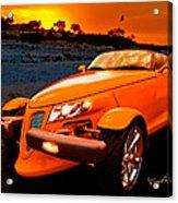 Chrysler Plymouth Prowler Rocky Sunset Acrylic Print