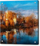 Church - Clinton Nj - Clinton United Methodist Church Acrylic Print