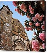 Church And Roses Acrylic Print