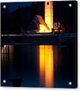 Church At Dusk Acrylic Print