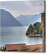 church at the Lake Como Acrylic Print