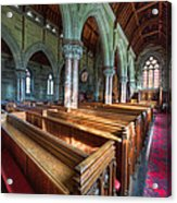 Church Benches Acrylic Print