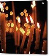 Church Candles Acrylic Print
