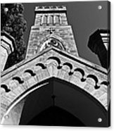 Church Facade In Black And White Acrylic Print