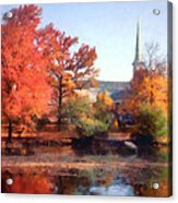 Church In Autumn Acrylic Print