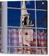 Church In Cafe Window Acrylic Print