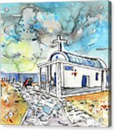 Church In Cape Gkreko In Cyprus Acrylic Print