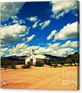 Church In Old Tuscon Arizona Acrylic Print