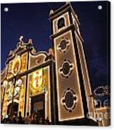 Church Lighting At Night Acrylic Print