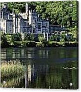 Church Near A Lake, Kylemore Abbey Acrylic Print by The Irish Image Collection