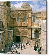 Church Of Holy Sepulchre Old City Jerusalem Acrylic Print