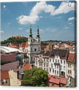 Church Of St Michael, Spilberk Castle And The Town Acrylic Print