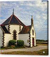 Church Off The Brittany Coast Acrylic Print