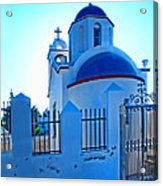 Church Oia Santorini Greece Acrylic Print