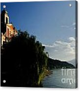 Church On The Lake Front Acrylic Print