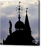 Church Spires Silhouettes Acrylic Print