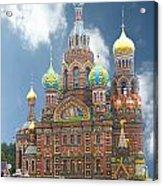 church St. Petersburg Russia Acrylic Print