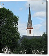 Church Steeple Acrylic Print by Arlene Carmel