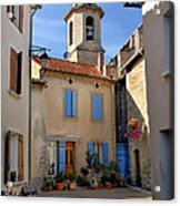 Church Steeple In Provence Acrylic Print