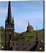 Churches Of Lorchhausen - Color Acrylic Print