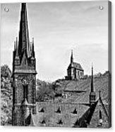 Churches Of Lorchhausen Bw Acrylic Print
