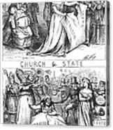 Church/state Cartoon, 1870 Acrylic Print