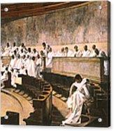 Cicero In Senate Acrylic Print
