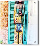 Cigar Store Indian - New Orleans Acrylic Print