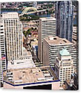 Cincinnati Aerial Skyline Downtown City Buildings Acrylic Print