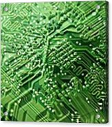 Circuit Board, Computer Artwork Acrylic Print by Pasieka
