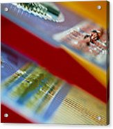 Circuits Used In Testing Microchip Functions Acrylic Print by Chris Knapton