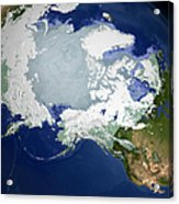 Circum-arctic Permafrost Acrylic Print