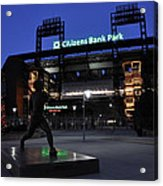 Citizens Bank Park Acrylic Print by Andrew Dinh