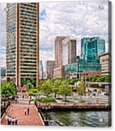 City - Baltimore Md - Harbor Place - Baltimore World Trade Center  Acrylic Print