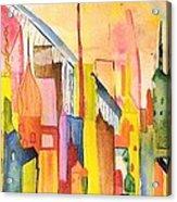 City   Acrylic Print by Katina Cote