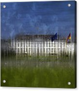 City-art Berlin Bellevue Acrylic Print by Melanie Viola
