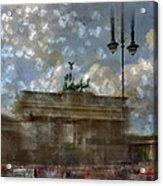 City-art Berlin Brandenburger Tor II Acrylic Print by Melanie Viola