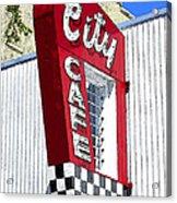 City Cafe Acrylic Print