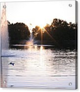 City Center Park Sunrise Acrylic Print